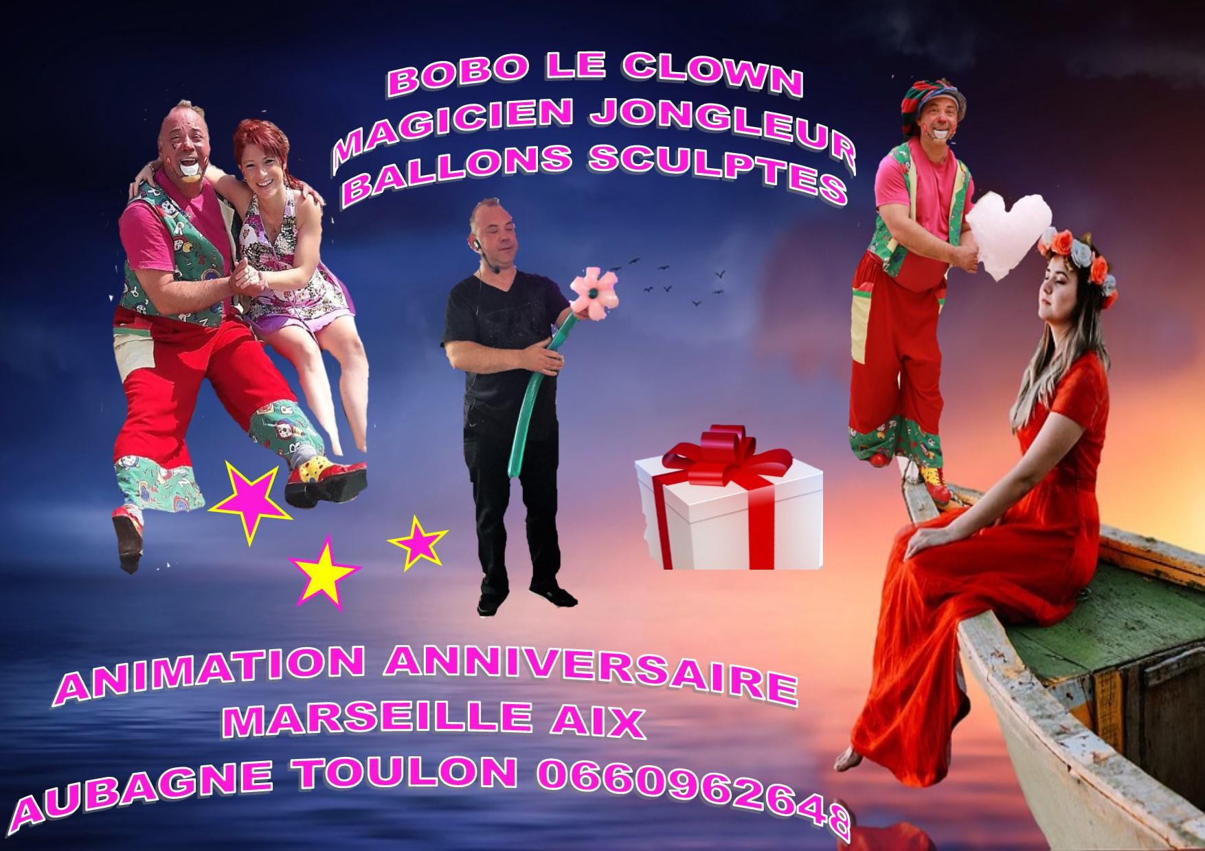 Clown Magicien Illusionniste Anniversaire Domicile A Marseille